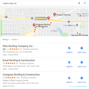 Local 3-Pack SEO Search Engine Optimization Digital Marketing for Commercial Contractors and Construction Companies HighClick Media Greenville, NC
