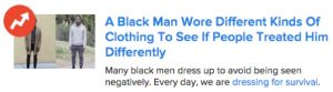 Black Man Wore Different Clothes Clickbait Content Marketing