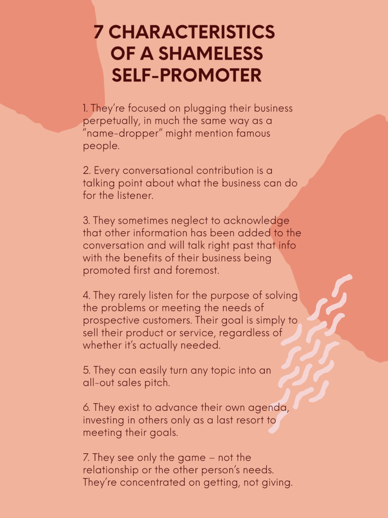 7 Characteristics of a Shameless Self-Promoter